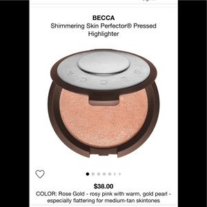 NEW, Becca Highlighting Powder, Rose Gold